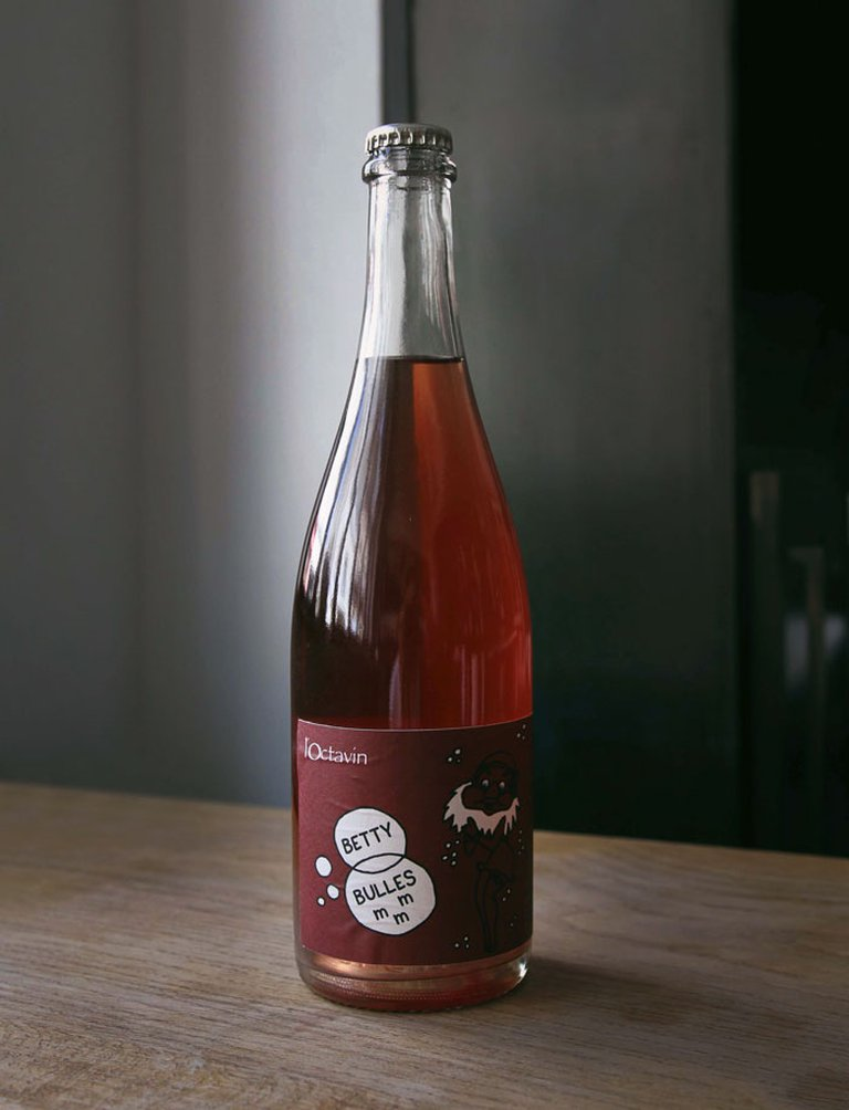 Betty Bulles PetNat Rosé 2018, L'Octavin